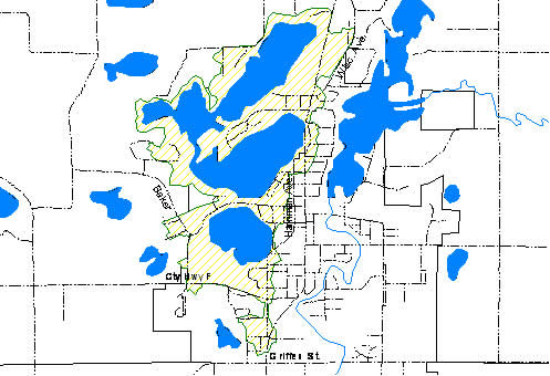 Map of Polk County suggesting Amery Residency