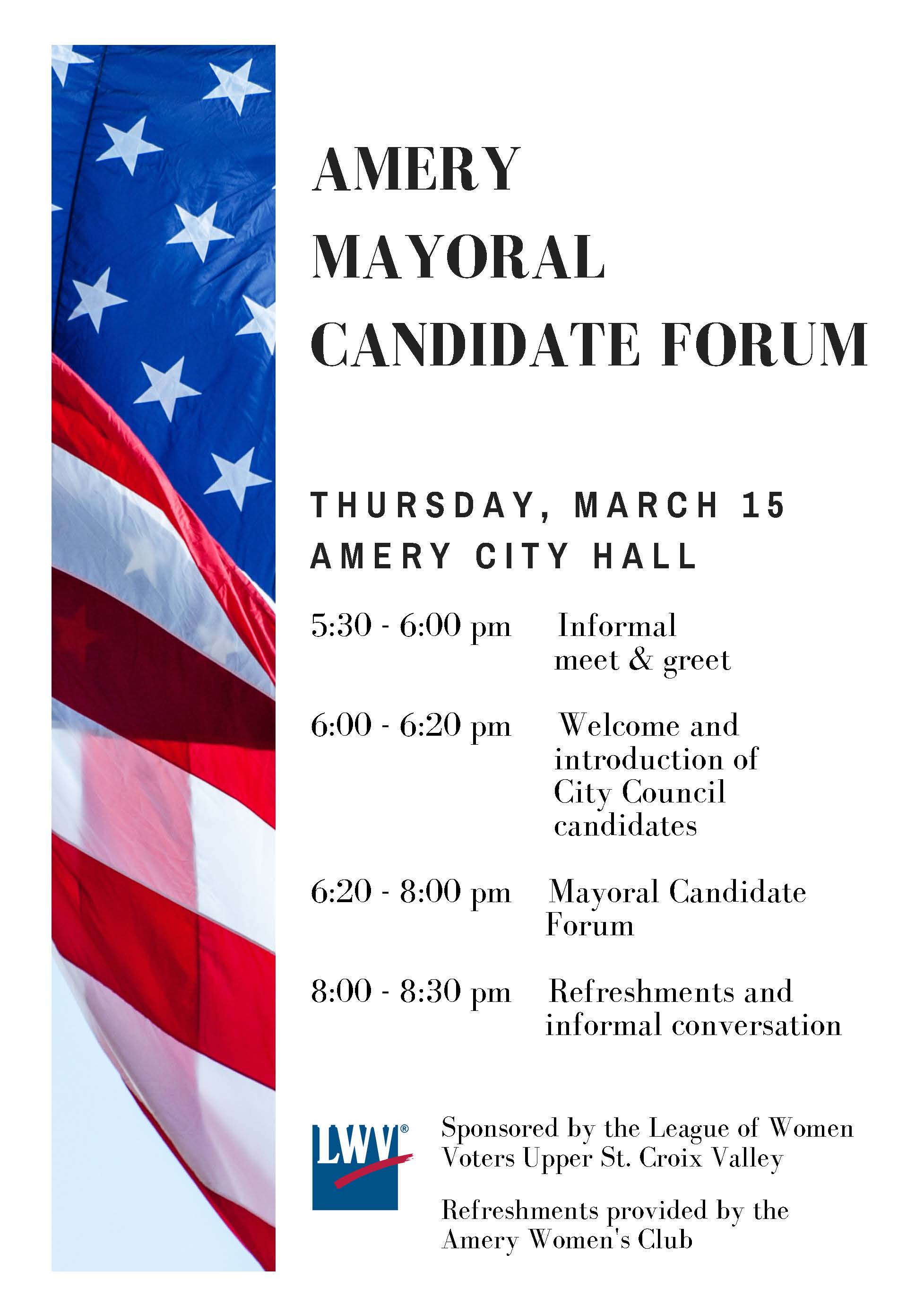 Amery Mayoral Flyer